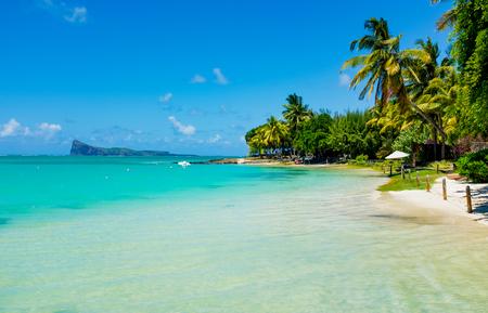 amazing white beaches of Mauritius island. Tropical vacation Stock Photo - 70461954