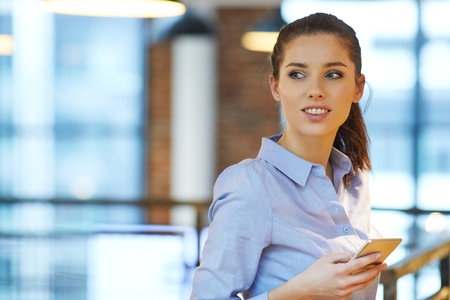 business woman working: Business woman working or rest  in office Stock Photo