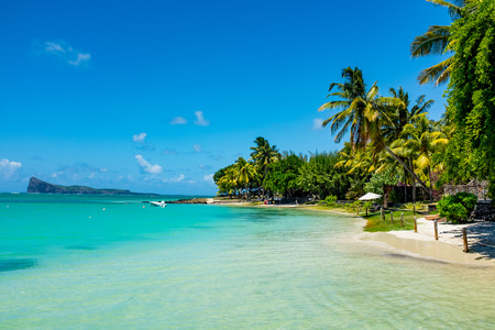 amazing white beaches of Mauritius island. Tropical vacation