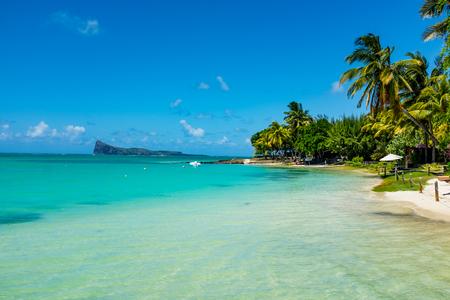 amazing white beaches of Mauritius island. Tropical vacation