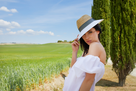 Summer vacation in Italy Stock Photo