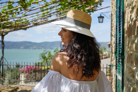 Woman in tuscany. Italian holiday photo