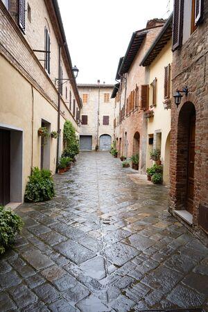 Street of the city Orvieto, Italy, Toscana.
