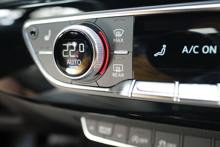 Car Climate Control Air Conditioning 스톡 콘텐츠