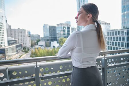 Beautiful business woman of the modern office