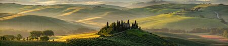 Tuscany - Landscape panorama, hills and meadow, Toscana - Italy