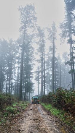 Camper van off road in nature