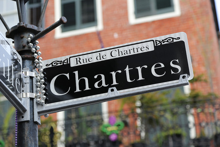 New Orleans Street Sign - Chartres Street Stockfoto