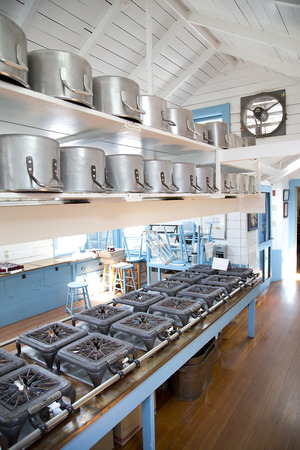 Rustic Kitchen - Branders Stockfoto