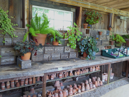 Potting Shed and Pots