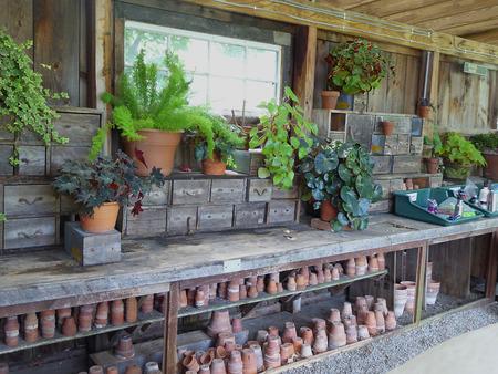 potting: Potting Shed and Pots