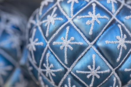 Blue Christmas Ball Stock Photo