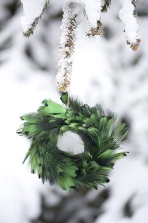Arbre de Noël Décoration - Guirlande Banque d'images - 48543234