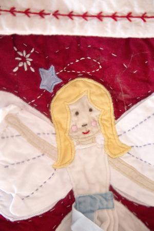 Ange sur Bas de Noël Banque d'images - 48543361