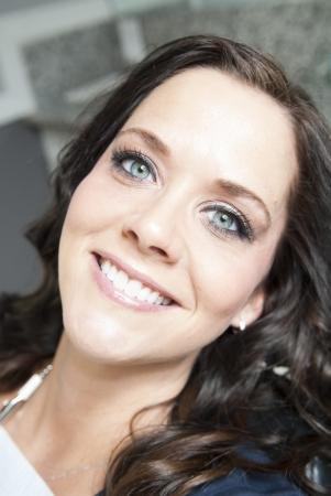 Female dental patient smiling