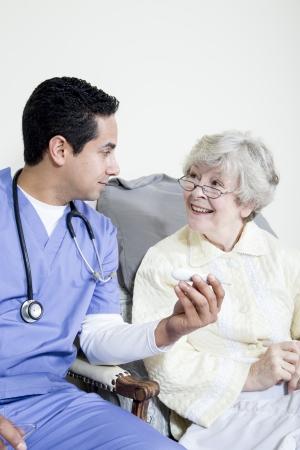 gramma: Male nurse taking elderly patient