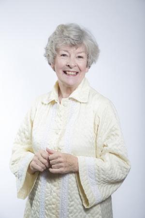 gramma: Smiling elderly woman