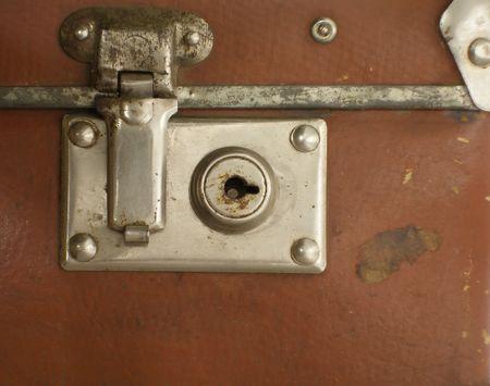 Lock of antique trunk photo