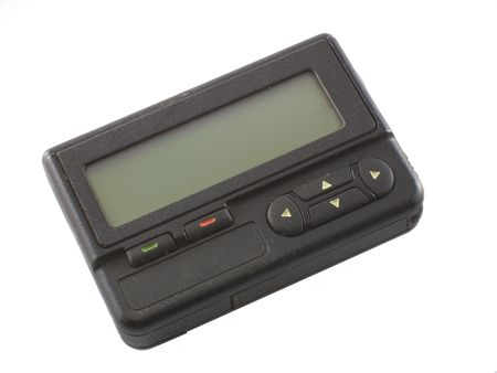 pager: Used pager isolated over white background