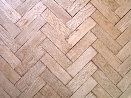 floor covering: Old frayed oaken parquet