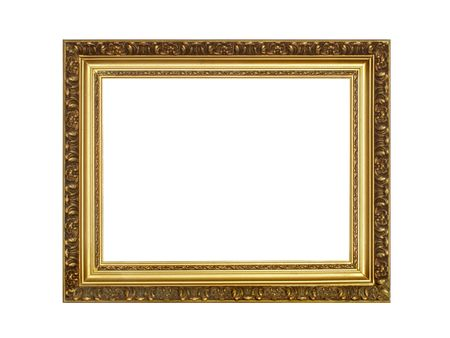 Antique frame isolated over white background photo