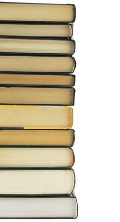 Stack of books isolated over a white background Stock Photo - 833049