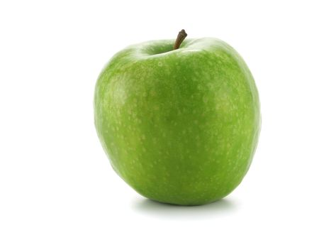 green apple: Single green apple isolated over white background