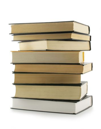 Stack of the books isolated over a white background Stock Photo - 855054