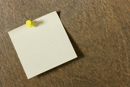 Empty note paper on the wooden board  photo