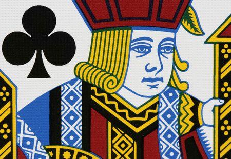 jack of clubs: Clubs jack portrait close up