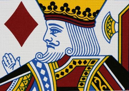 rey: Diamantes rey retrato de cerca Editorial
