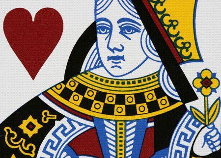 Hearts queen portrait close-up