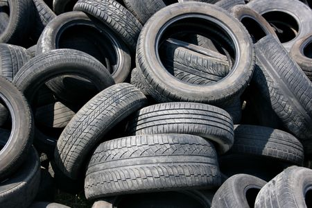 Lots old tire-covers, may be used as background Stock Photo - 1296941