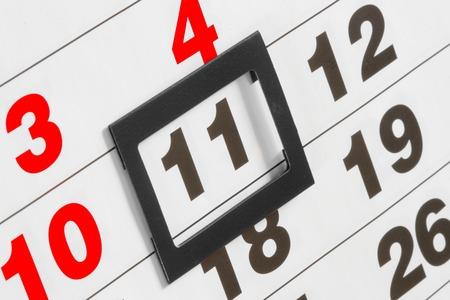 Wall calendar, September, 11, black frame photo