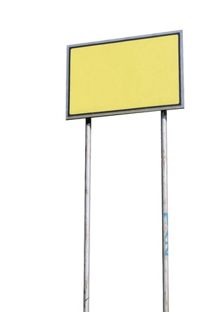 Small blank sign isolated over white background photo