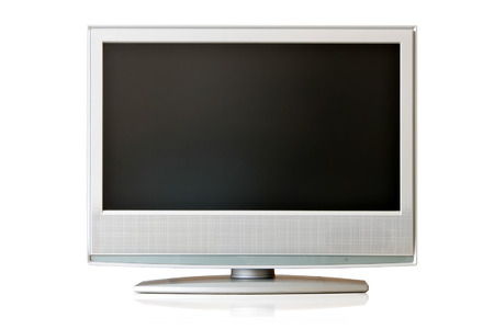 Flat LCD TV isolated over whte background Stock Photo - 1717373