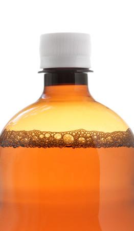 linctus: Bottle of liquid medicine close-up isolated over white background