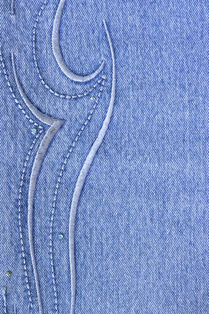Blue jeans with pattern, may by used as background Stock Photo