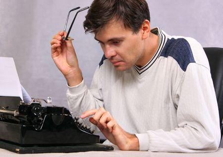 pressman: Author type bestseller by vintage typewriter Stock Photo