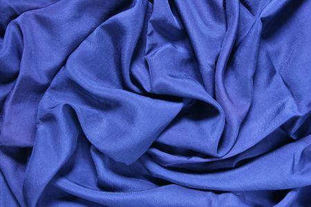creases: Deep blue facric texture background with waves