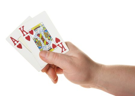 Ace-king - high starting hand at texas holdem poker