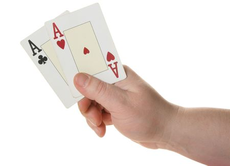 Two aces - highest starting hand at texas holdem poker