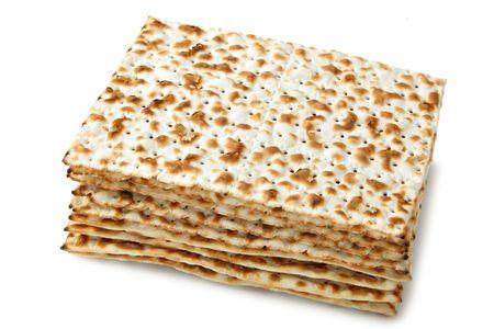 pesaj: Matzos - Pascua jud�a pan aislado m�s de fondo blanco