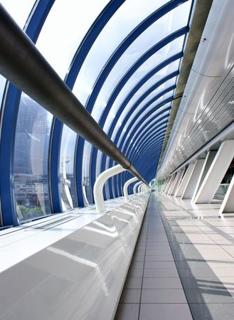 Perspective of the passage at business centre photo