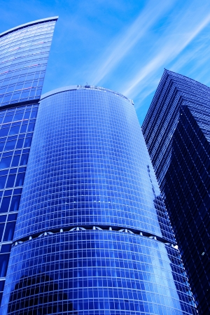 Modern skyscrapers close-up under blue sky with clouds Stock Photo - 3233772