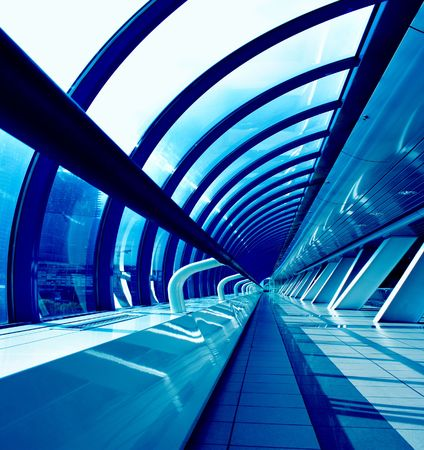 Perspective of the passage at business centre Stock Photo - 3257793