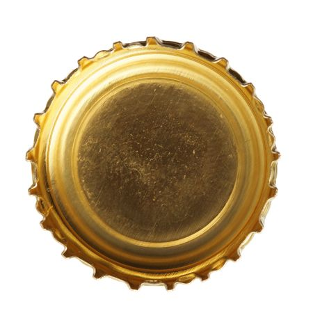 single beer: Single beer cork isolated over white background Stock Photo