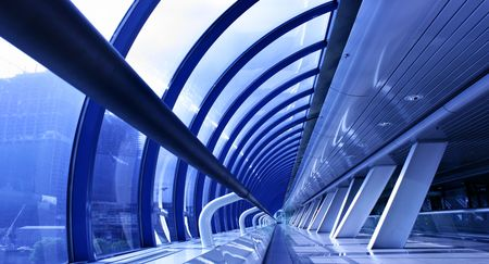 business centre: Perspective of the passage at business centre Stock Photo