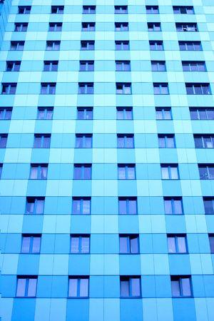 hypothec: Lots windows of modern apartment skyscraper.