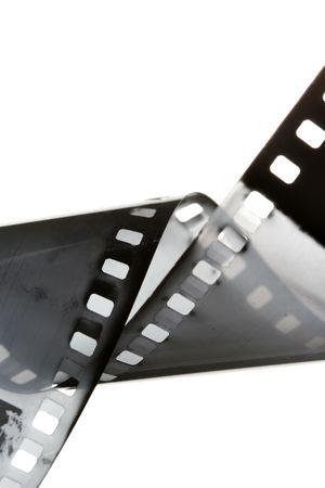 35: 35 mm de pel�cula en blanco y negro sobre fondo blanco aisladas